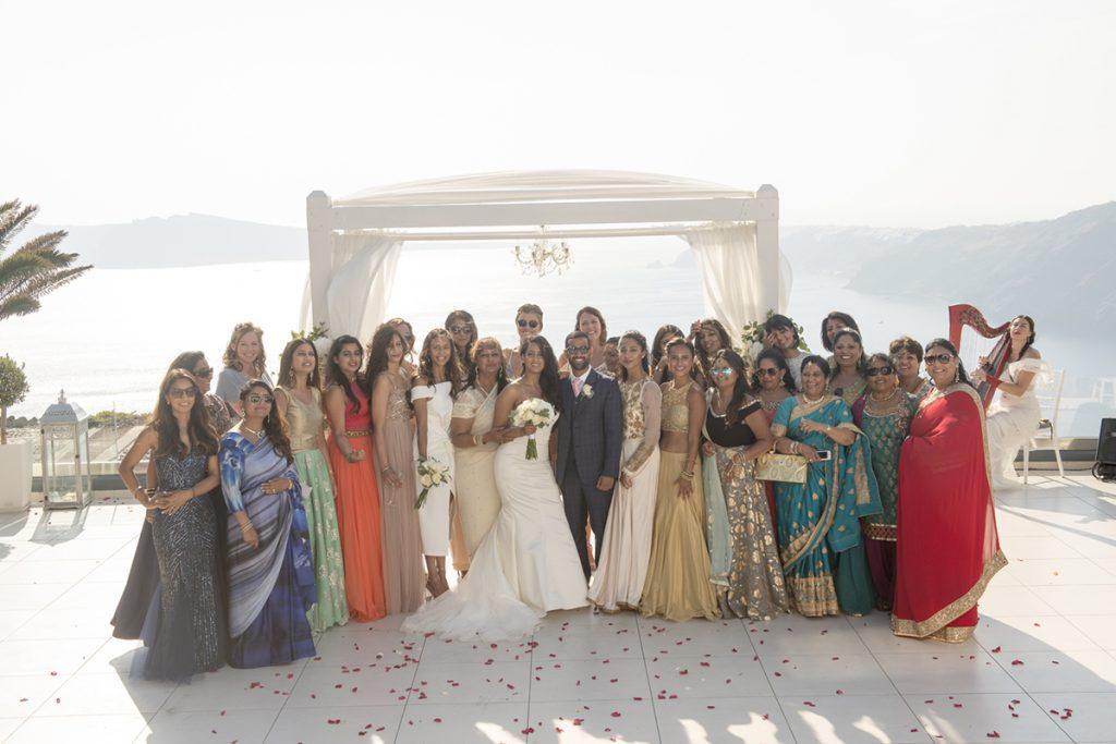 Hindu wedding Le Ciel Santorini Greece