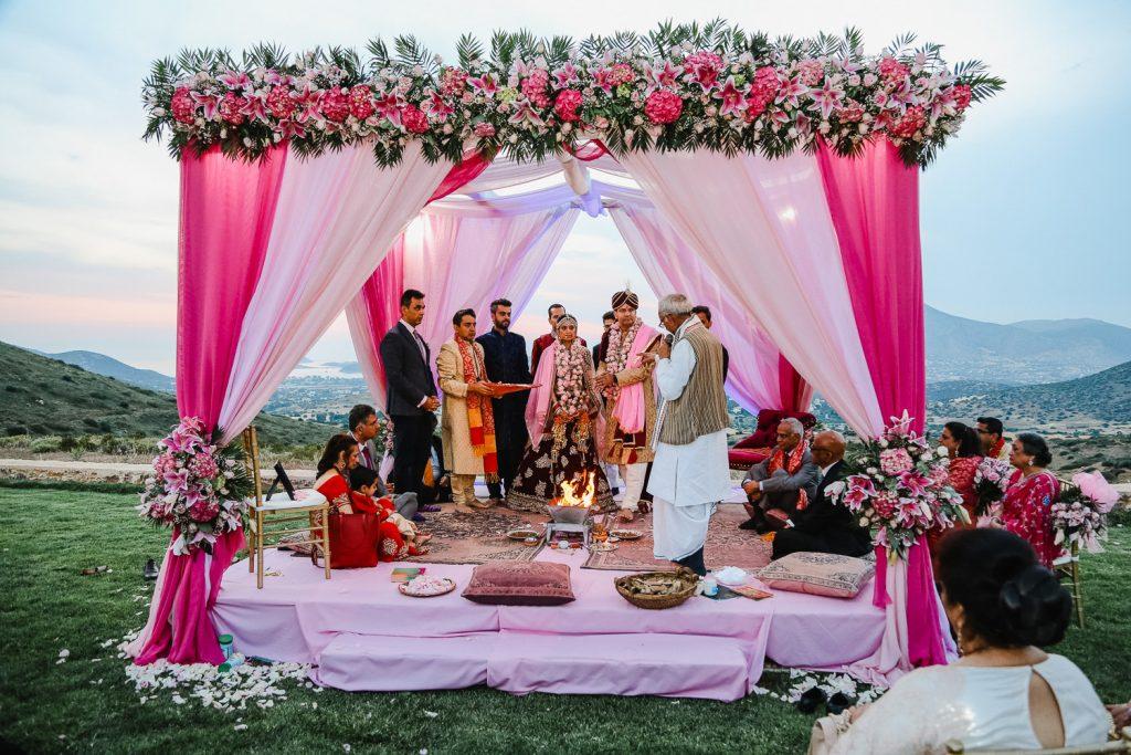 Hindu wedding Mandap Athens Greece