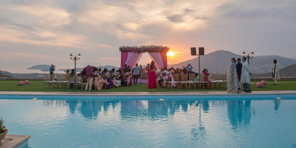 Hindu wedding Mandap Athens Riviera Greece