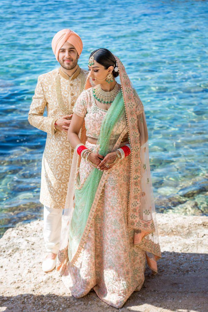 sikh couple wedding Greece