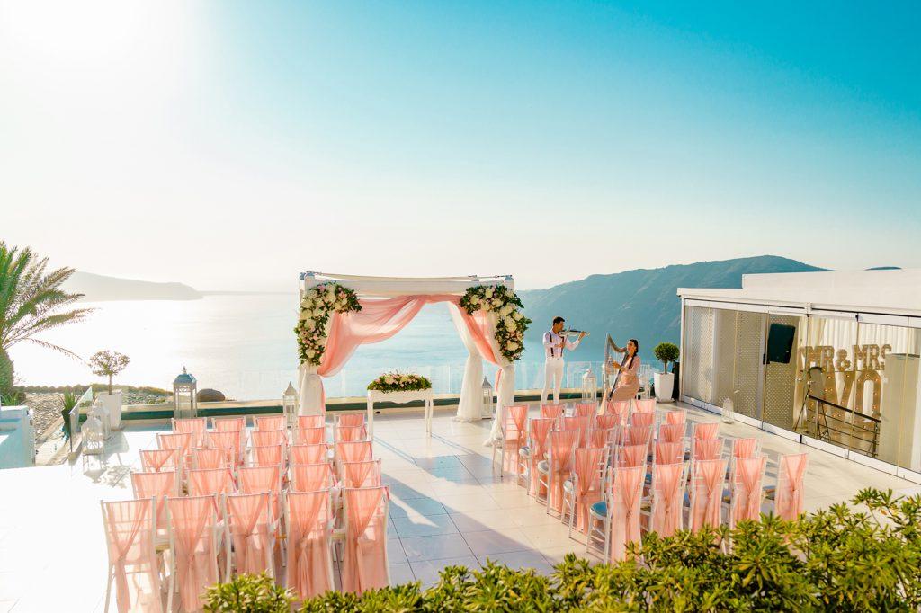 santorini wedding leciel terrace